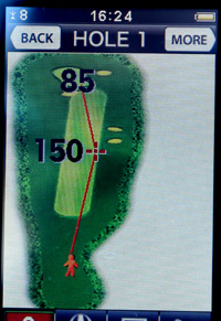 Golf GPS Tough Point Positioning